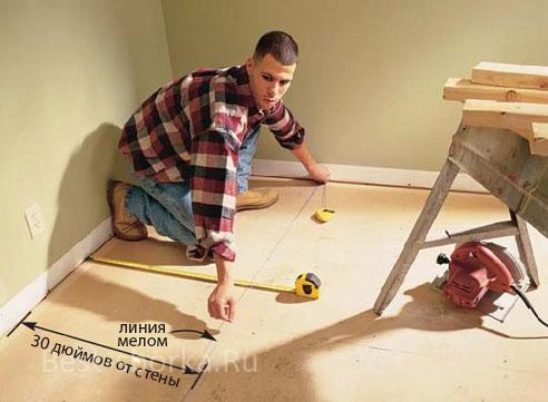 Установка основы для стен шкафа