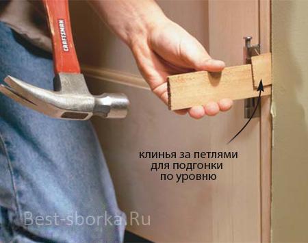Установка петель на двери своими руками